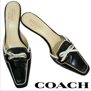 Shoes - NWT Coach Marielle square toe mules slides sz 7